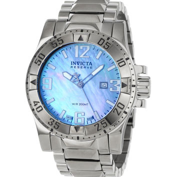 Invicta 0515 Men's Reserve Swiss Stainless Steel Blue MOP Dial Dive Watch