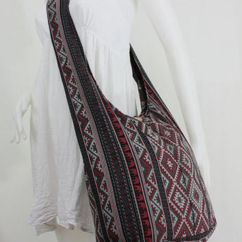 USA SHIPPING** Vintage Elephant Hobo Hippie Boho Cotton Sling Crossbody Shoulder Messenger Bag