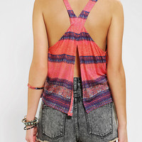 Ecote Boho Print Open-Back Tank Top