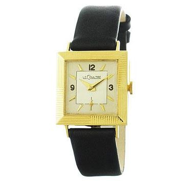 Pre-Owned Le Coultre 14K Yellow Gold Art Deco Style Dress Watch - Leather Strap