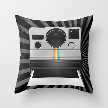 Retro Polaroid Camera Throw Pillow by u&i design