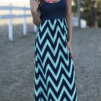 Center of Attention Maxi in Navy