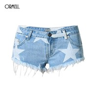 Free Shipping Hot High Waist Stretch Denim Shorts New Summer Flower Embroidery Casual Women Jeans Short Pants Plus Size