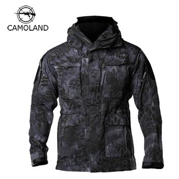 M65 UK US Army Casual Clothes Tactical Windbreaker Men Winter Waterproof Hoodie Pilot Coat Military Field Camouflage Jacket