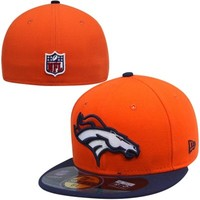 New Era Denver Broncos Breast Cancer Awareness On-Field 59FIFTY Fitted Performance Hat - Orange/Navy Blue