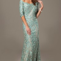 Off The Shoulder Lace Dress 98129 - Evening Dresses