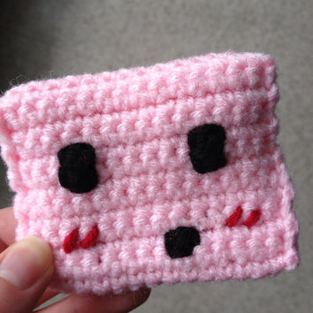 Video Game Inspired Pink Character Change Purse - Geekery Coin Pocket - Video Game Gamer Bag - Hipster Retro Collector Item