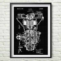 Henry Ford Transmission 1930 Patent Poster Illustration gray, black, black graphic, yellow, blue Drawing Patent Get 5 Colors Background *25*