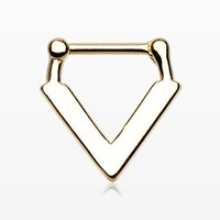 Golden Urban Chevron Arrow Septum Clicker