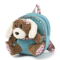 Plush Puppy in Corduroy Backpack  | Claire's