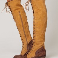 Free People Two Tone Joe Lace Up Boot