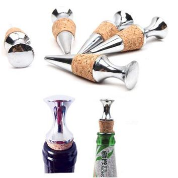 Zinc Alloy & Cypress Cork Bottle Stopper