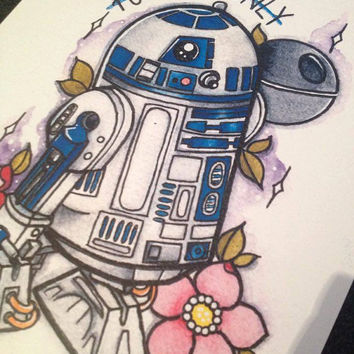 "Star Wars - R2D2 ""You're My Only Hope"" by Charlotte Ann Harris"