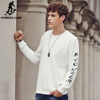 New O-Neck Hoodies Men Streetwear Sweatshirt Off White/Black Tracksuit Men Letters Printed Moletons