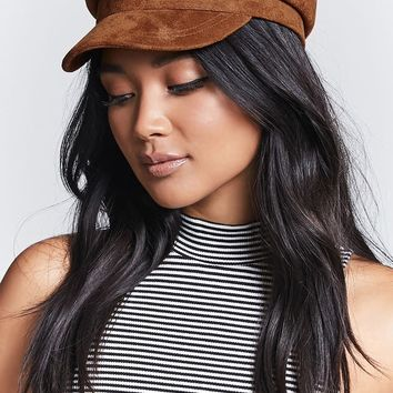 Faux Suede Cabby Hat