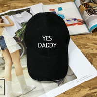 Yes Daddy hat - Baseball Cap, Tumblr hat , Dad Hat Dad Cap Baseball Hat , Low-Profile Baseball Cap Hat