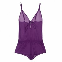 Buy Beautiful Bottoms luxury lingerie - Beautiful Bottoms Ultra Violet Drop-Back Playsuit  | Journelle Fine Lingerie