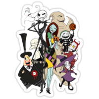 'the nightmare before christmas' Sticker by itsuko