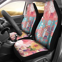 Floral Nurse Car Seat Covers