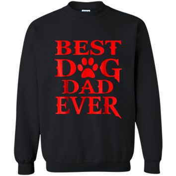 Mens Best Dog Dad Ever T-shirt Fathers Day Gift