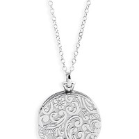 Monica Rich Kosann Sterling Silver Locket Necklace | Nordstrom
