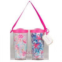 Lilly Pulitzer Insulated Tumbler Duo - Jellies Be Jammin and She She Shells
