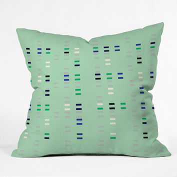 Gabi Numbers Mint Throw Pillow