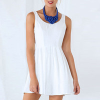 Strappy Sleeveless Sheath A-Line Pleated Mini Dress