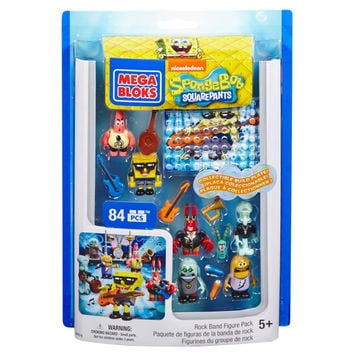 Rock Band SpongeBob Squarepants Mega Bloks Figure Pack