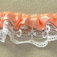 Ruffled Lace Peach 1 Yard DIY Clothing Accessories Crafts Lace Trim Sewing Lace