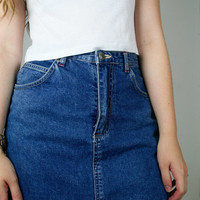 DENIM Darkwash SKIRT/SKORT 90s // Medium //
