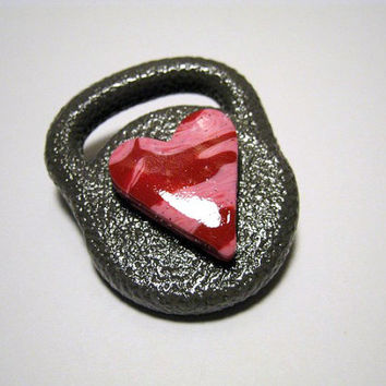 Valentines Kettlebell Pin and Decoration