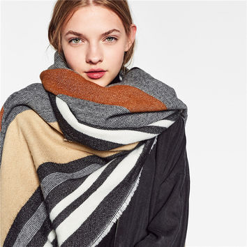 Ladies Winter Stripes Scarf [9572826191]