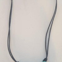 Shark Tooth Necklace with Blue Turtles
