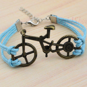 Bracelet-antique bronze bicycle bracelet,bike bracelet,charm bracelet,personalized,friendship christmas gift
