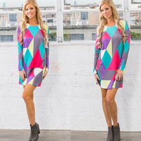 Mesmerize Me - Colorful Printed Dress - RESTOCK