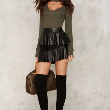 Nasty Gal Collection Juno Vegan Leather Mini Skirt