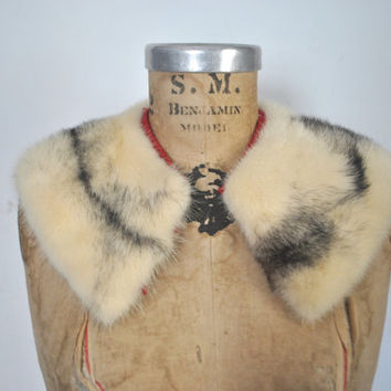 Cross Mink Fur Collar / vintage