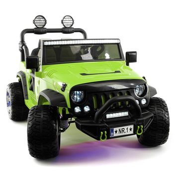 SUV Explorer 12V Kids Ride-On Toy Car Truck With R/C Parental Remote   Green