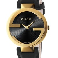 Interlocking Gold Motif Watch Gucci