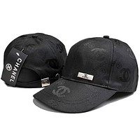 Chanel Fashion Embroidery Adjustable Travel Hat Sport Cap
