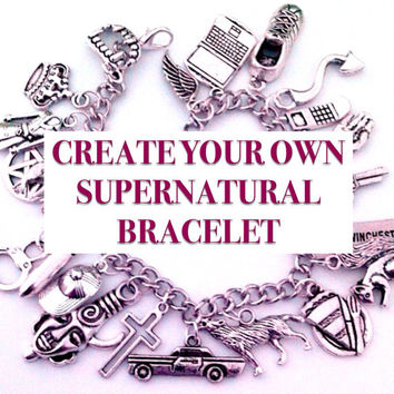Create Your Own Supernatural Charm Bracelet - Supernatural Jewelry - Team Free Will Jewelry