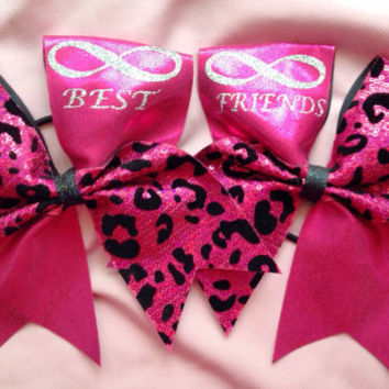 Cheer bows- best friends infinity