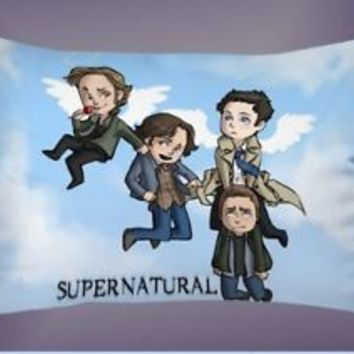Supernatural TV Show Cute Angel Best Pillow Case 16 x 24 20 x 26 2 Side Cover