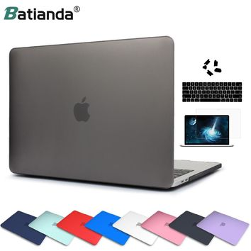 Matte Crystal Plastic Hard Case Cover for MacBook Pro Pro Retina 13 15 Inch A1706/A1707 Touch Bar New Air 13 A1932