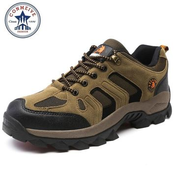 hot sale hiking shoes outdoor sapatilhas trekking climbing boots senderismo camping sneakers men Breathable Rubber Medium(B,M)