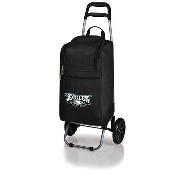 Philadelphia Eagles - Cart Cooler with Trolley (Black)