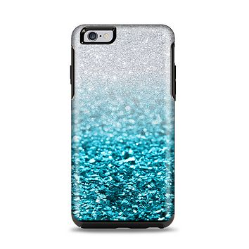 The Turquoise & Silver Glimmer Fade Apple iPhone 6 Plus Otterbox Symmetry Case Skin Set