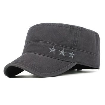 Adjustable Solid Color Military Hat