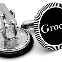 Design #3 Groom Wedding Cufflinks